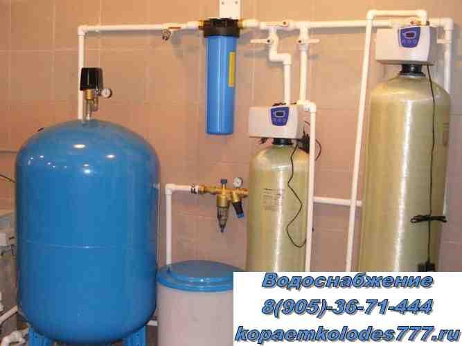 Водоснабжение для частного дома система очистки