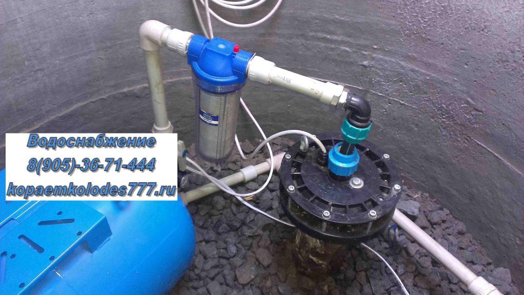 Водоснабжение для частного дома из скважины
